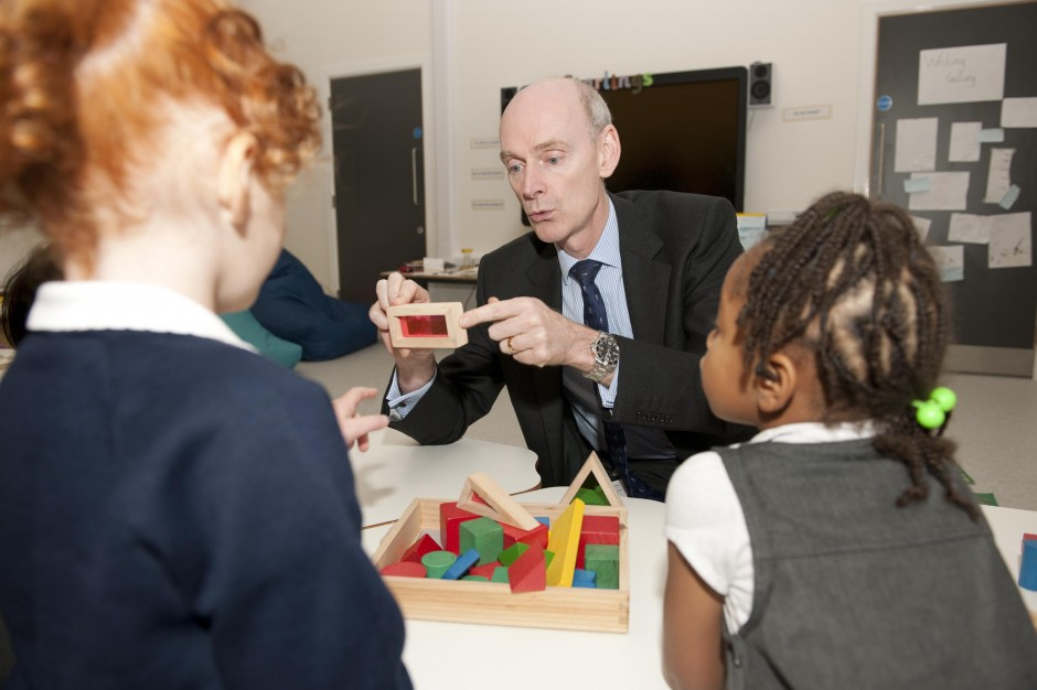 Richard Pennycook visits the new Nightingale Primary Academy in Stanley Road, Leeds, which is part of the  Co-operative Academies Trust, sponsored by the Group