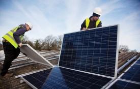 REPOWERBalcombe installs solar panels at Grange Farm (Image: Kristian Buus)