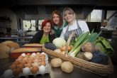 Nicola Price-Rohan, Wales Co-operative Centre business consultant Sarah Owens and Anwen Ashton at the new co-operative