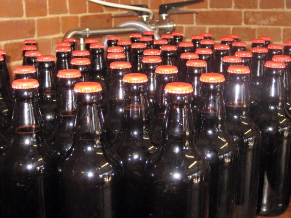The first bottling session. (Photograph: Pumphouse Community Brewery)