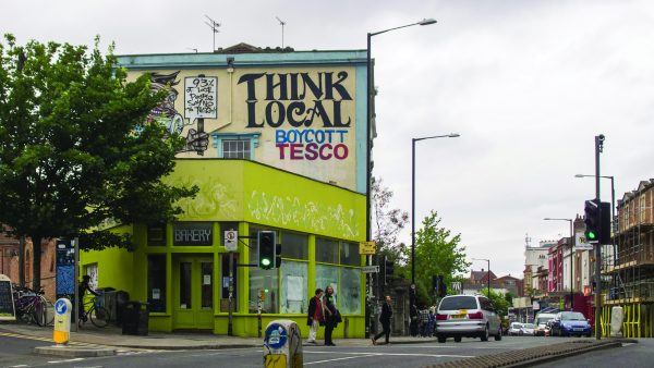 Stokes Croft artistic quarter in Bristol has resisted becoming a 'clone town'. Photograph: Heather Cowper/Flickr