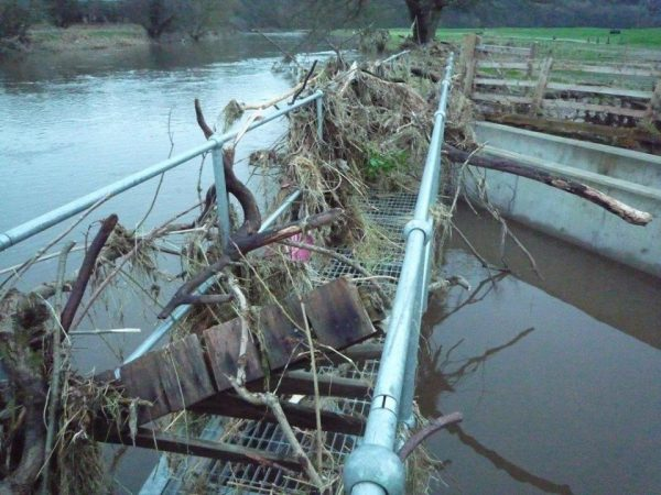 Debris at Whalley Community Hydro, Lancashire, has been cleared by volunteers