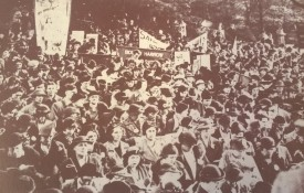 Guild members assembled at a massive peace ceremony at Regents Park in London on Armistice Day in 1938
