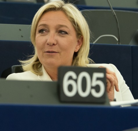 President of the National Front, Marine Le Pen addressing the European Parliament in 2004