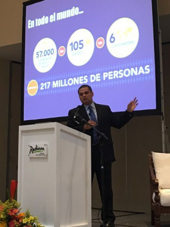 Victor Corro, Woccu vice president of member services, shares Woccu's Vision 2020 in Colombia
