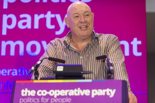Dave Ward addressing the Co-operative Party Annual Conference 2015 © Andrew Wiard