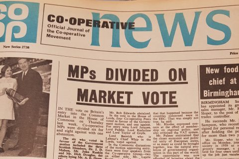 Front page Co-op News common market vote