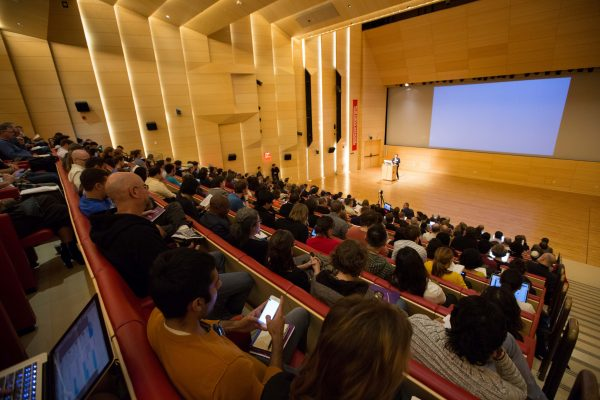 Over 1000 people descended on the New School in New York