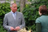 Prince Charles discusses agricultural issues with a volunteer at Hackney City Farm (Image: Andy Gott/Creative Commons)