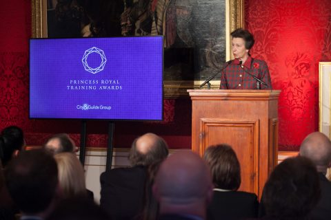 Princess Anne presents the awards