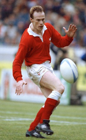 Paul Thorburn in action for Wales