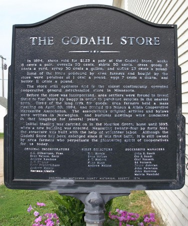 A plaque honouring the store's place in history