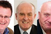 The five new directors of the Group Board. From left: Andrew Donkin, David Morrow, David Smith, Frank Nelson and Bob Harber.