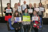 The charities receive donations from David Blowe, the former chair of the Co-op Club at a reception hosted by the Southern Co-operative at its Lakeside office in Portsmouth