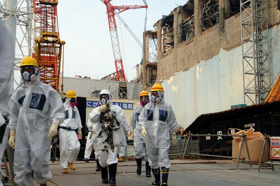 International Atomic Energy Agency experts visit the stricken Fukushima nuclear plant in 2013  /  Image © Greg Webb/IAEA