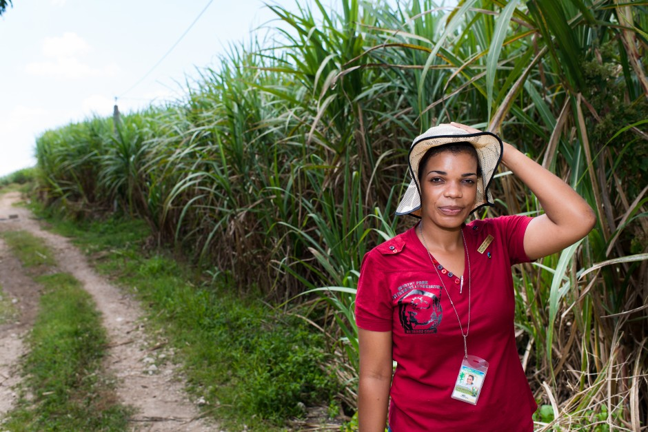 Alexia Ludford, sugar cane farmer and Fairtrade project manager