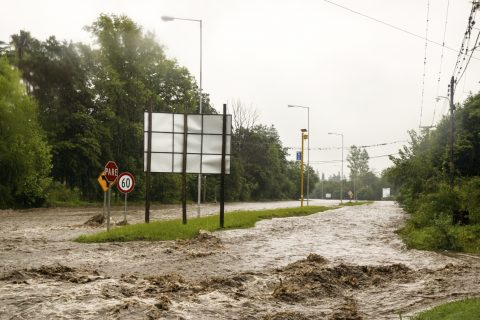 Argentina Flooding in the valley Sierras Chicas, Province of Cordoba