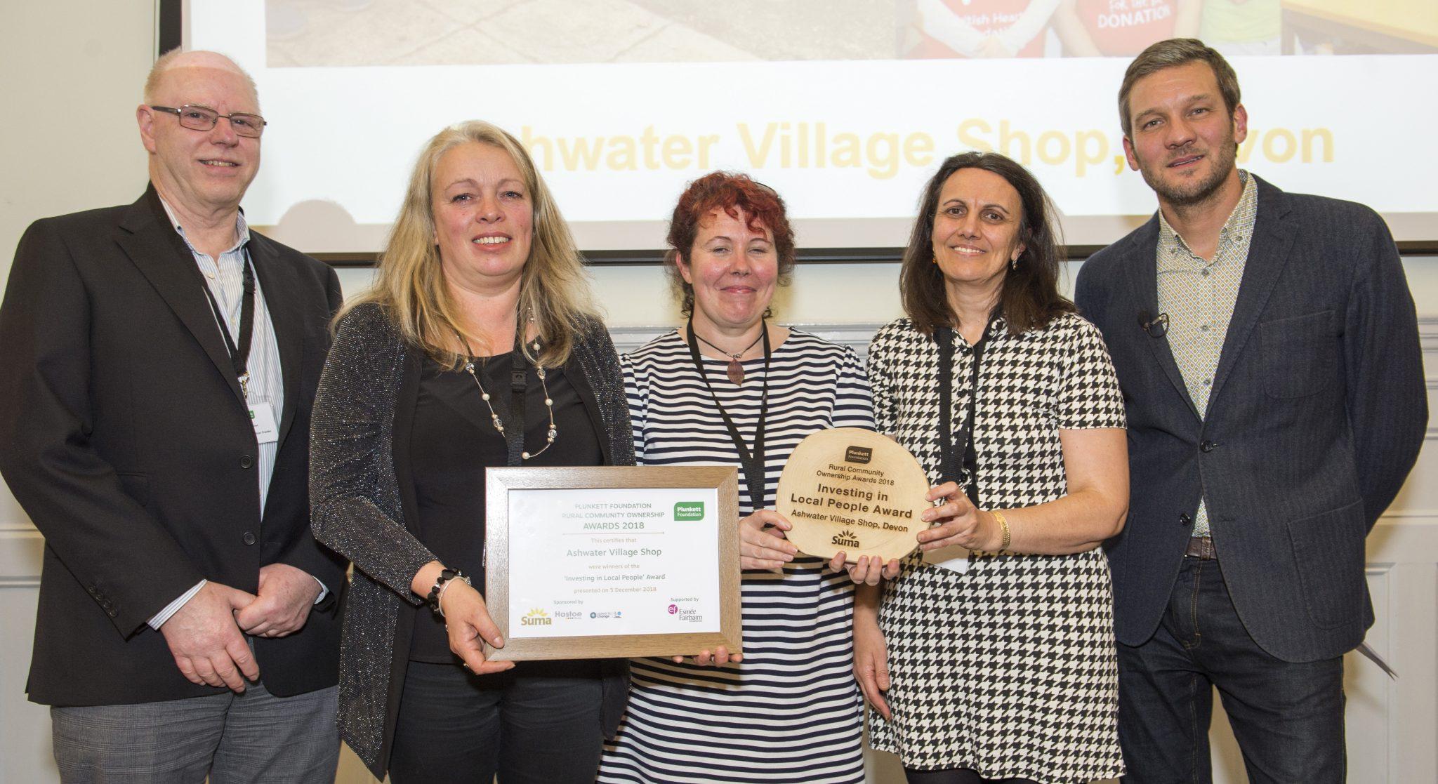 Ashwater Village Shop picks up its award