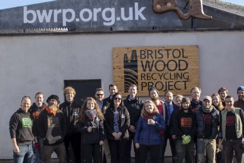 Photo of members of Bristol Wood Recycling Project