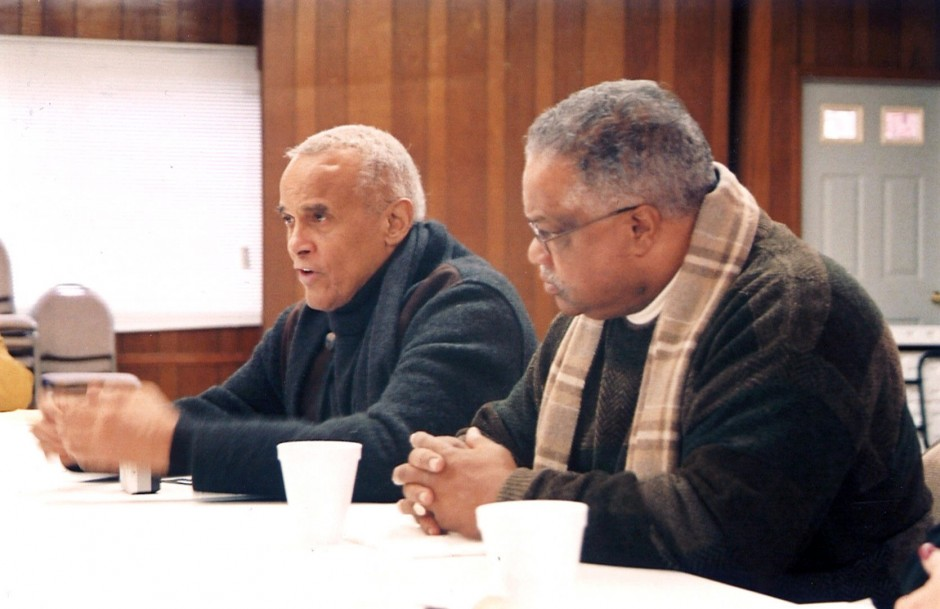 Harry Belafonte with Ralph Paige, executive director of the Federation of Southern Cooperatives at the Epes Training Center in Alabama (image: Cornelius Blanding)