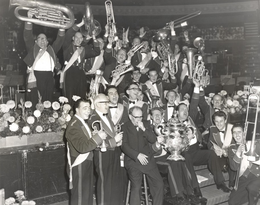 Celebrating a competition win in 1932
