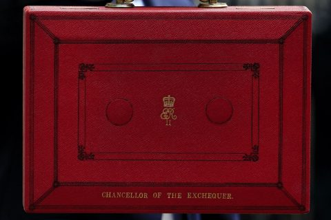 The chancellor's budget box