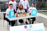 Sally Gunnell joined para athletes Richard Whitehead and Sam Ruddock, and event volunteers, to celebrate the Co-op Group's support