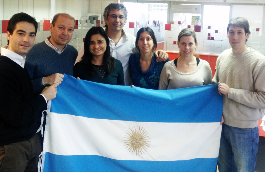 Gabriela Buffa (third from right) with colleagues from Cooperar
