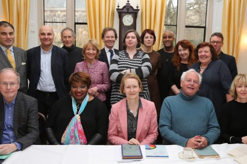 Commission members at Balliol College in Oxford