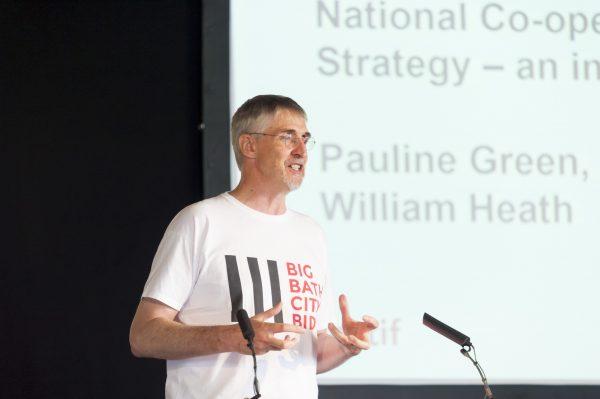 William Heath speaking at the Congress (c) Co-operatives UK