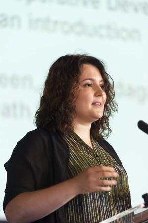 Ieva Padagaite speaking at the Congress (c) Co-operatives UK