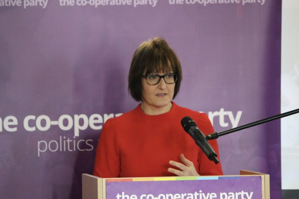 Deb Oxley of the Employee Ownership Association addressing delegates at the Co-operative Economy conference (c) Co-operative Party