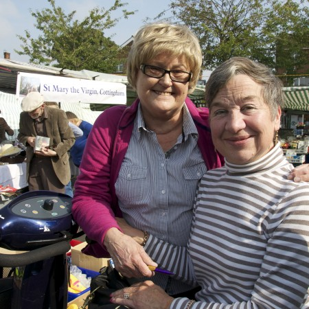 Sandra Hammond and Ruth Marsden of St Mary the Virgin Church, Cottingham