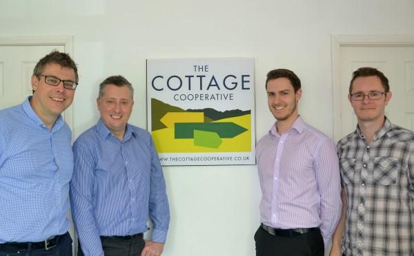The Cottage Cooperative team: (l-r) Tim Stienlet, Darren Allen, Jonathan Gormley, Andrew Bothamley