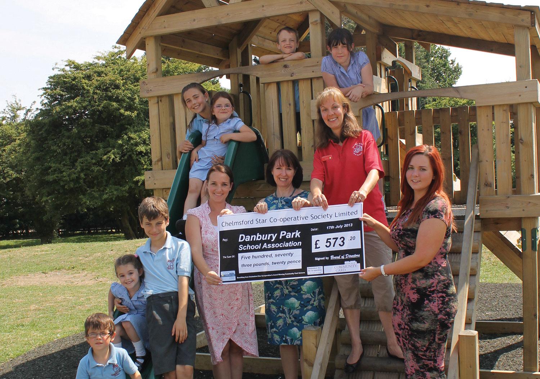 Chelmsford Star's community card scheme helped buy playground equipment at Danbury Park School