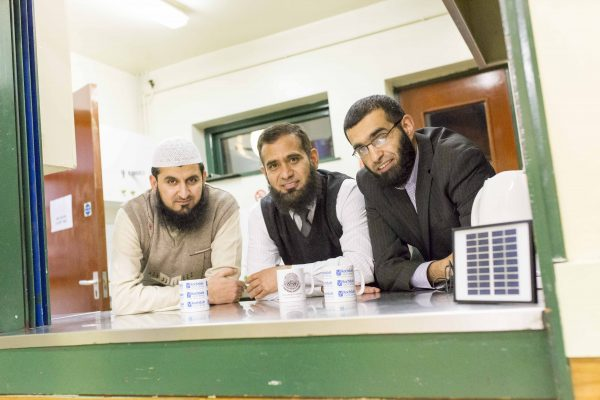 Deeplish Community Centre l-r: Zahir Ishan , administrator, Sohail Ahmad, manager and Abdullah Khan, site manager (photograph: Chris Bull)