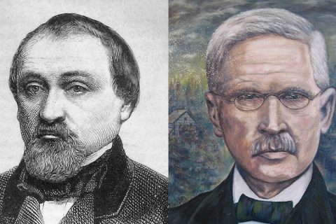 Dr Hermann Schulze-Delitzsch (left) and Friedrich Wilhelm Raiffeisen helped to shape the idea co-operation in Germany