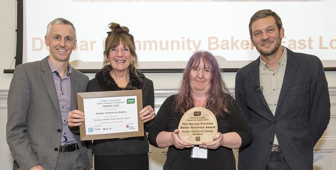 Dunbar Community Bakery, winners of the Horace Plunkett Better Business Award
