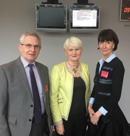 (l-r): Pat Fay of the Irish League of Credit Unions, MEP Marian Harkin, and Hilary O'Sullivan of the Irish League of Credit Unions [photo: WOCCU]