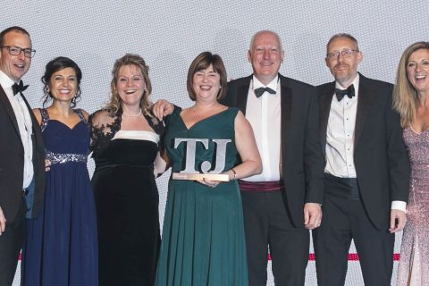 East of England Co-op's learning and development team collect their award