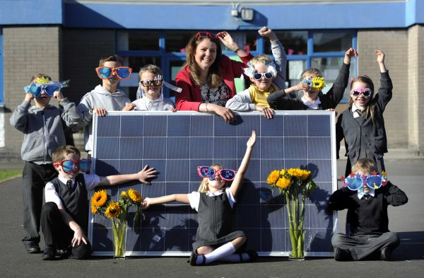 Former BBC presenter Heather Reid helps pupils at Gylemuir Primary School launch Edinburgh Community Solar Co-operative's share offer - but now it faces an uncertain future