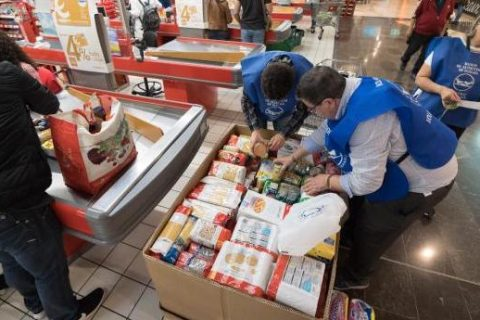 Food bank collection point in Eroski store