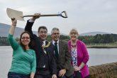Lynn Molleson, founding director of Harlaw Hydro, Rt Hon Donald Wilson, Lord Provost of Edinburgh, Simon Dormer, founding director of Harlaw Hydro and Shona Macmillan, manager of Balerno Village Trust
