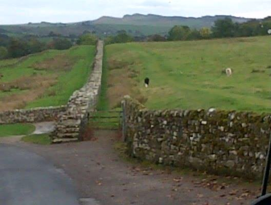 A nearby part of Hadrian's Wall
