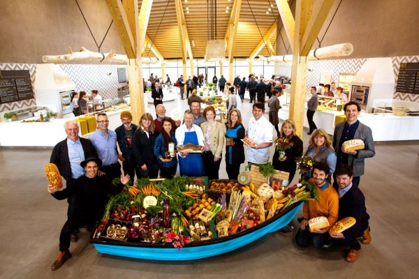 Local producers at the opening of the southbound Gloucester Services on the M5