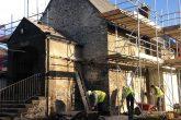 Restoration work on the Guildhall in Llantrisanta