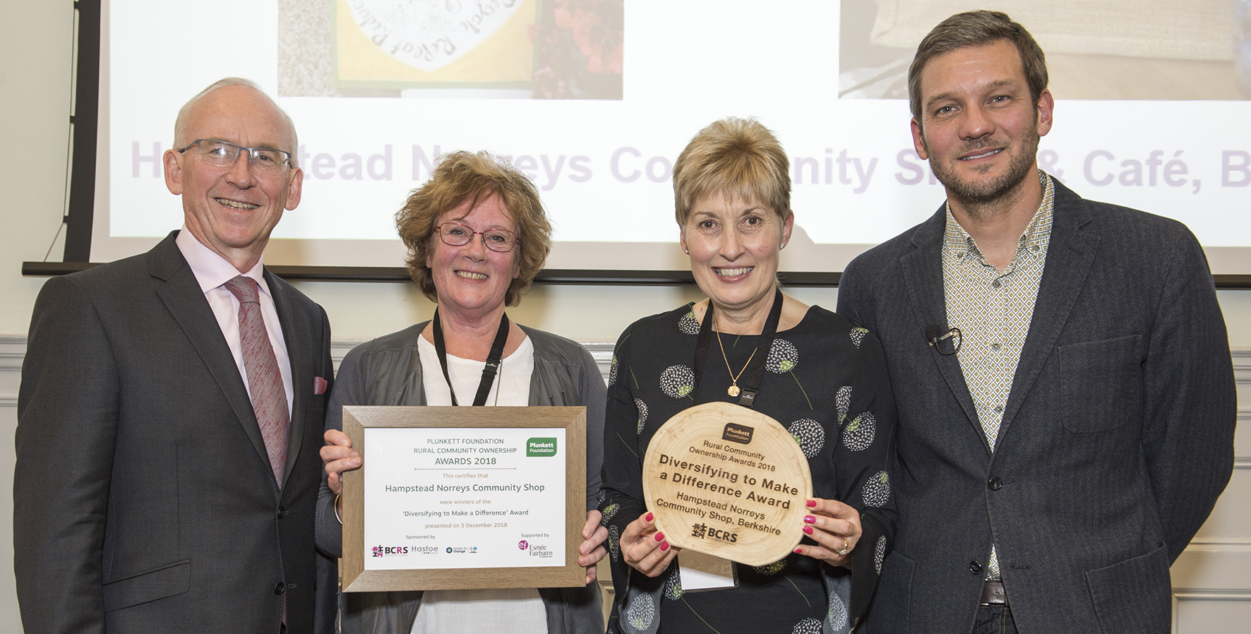 Hamsptead Norreys Community Shop, winners of Diversifying to Make a Difference