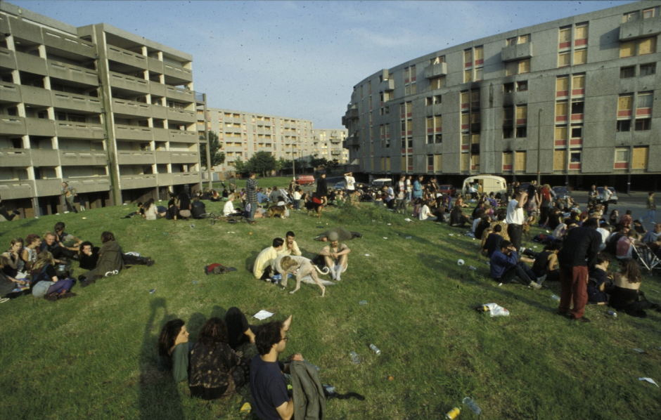 The Crescents housing development in Hulme, which was built in 1972 and demolished in 1994