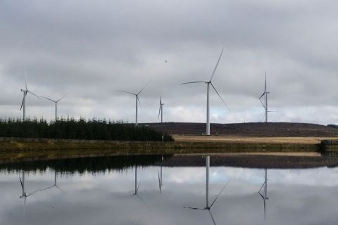 The wind farms at Auchrobert wind farm