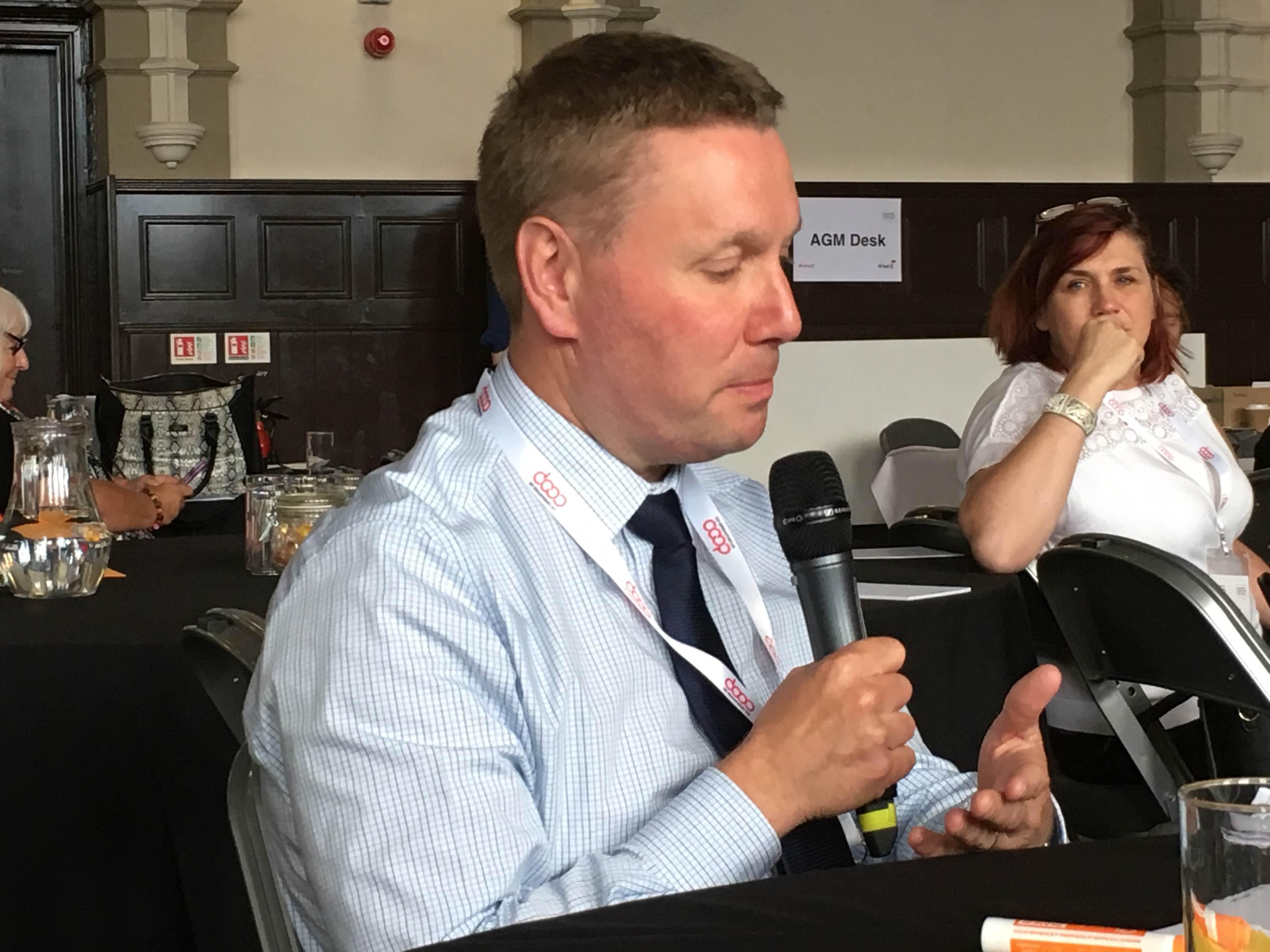 Jim Watts, Secretary, Central England Co-operative